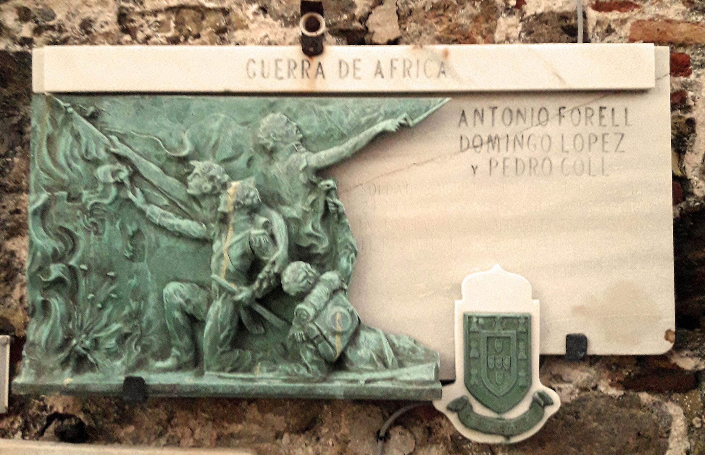 Placa conm. Guerra de África  1859-1860