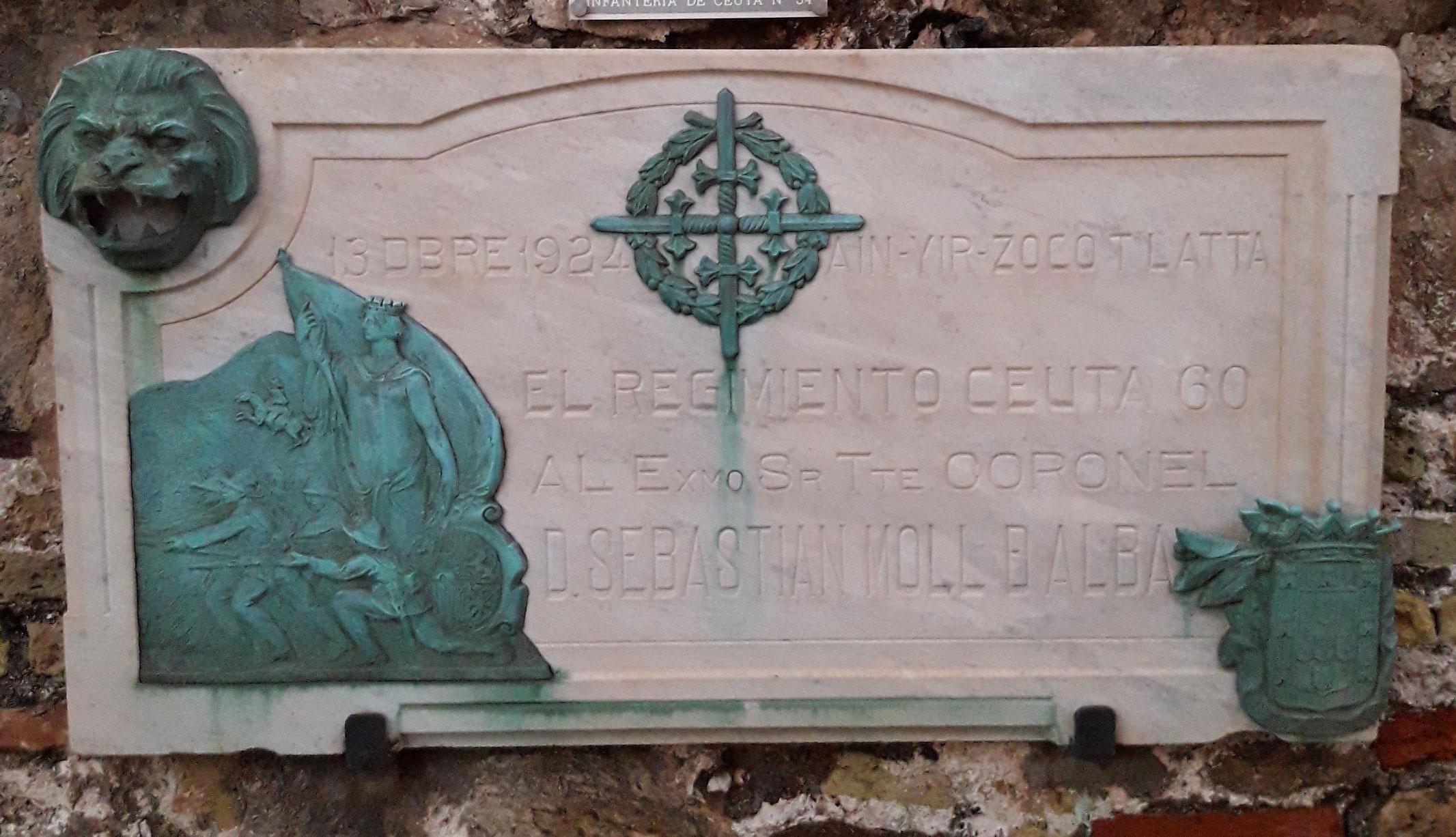 Placa conmemorativa Tcol. Moll de Alba.